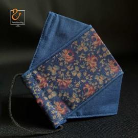 ماسک پارچه ای جین برگ و گل ماسک ۳بعدی سه لایه قابل شستشو